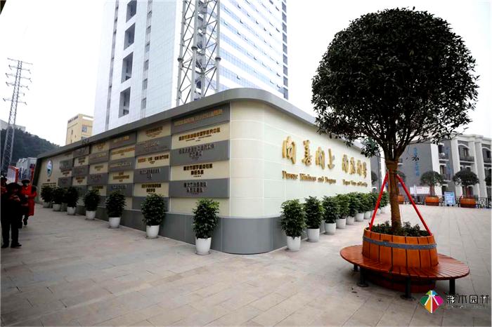 重庆市肿瘤医院室外园林景观施工 / 建筑外立面综合改造项