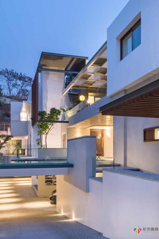 豪华安静的庭院设计,整体布局舒适大气