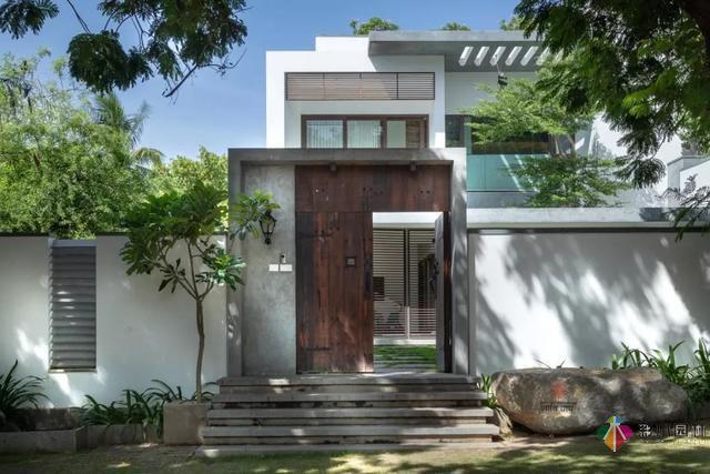 重庆现代风别墅的庭院设计,如此之美!