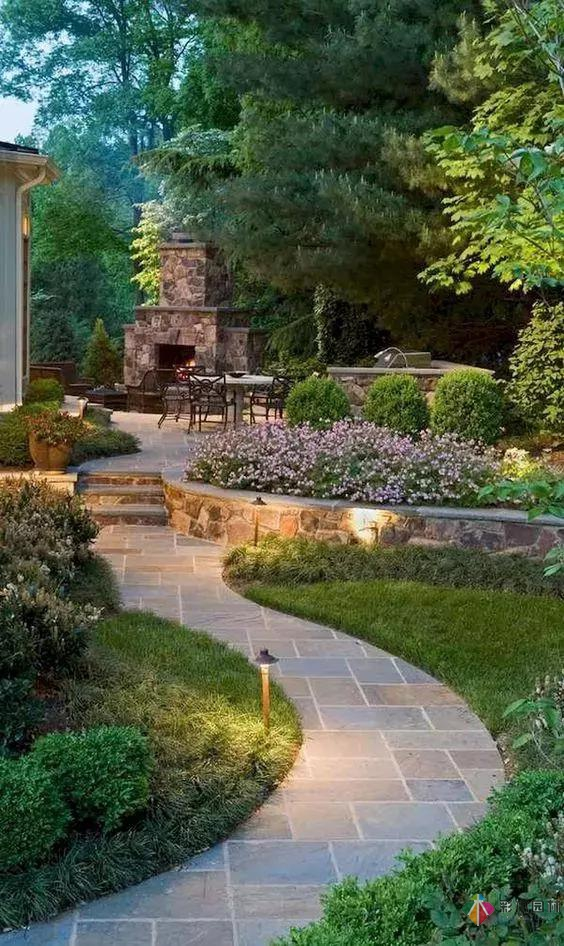 设计选择的材料不同使得庭院设计的味道也不同!