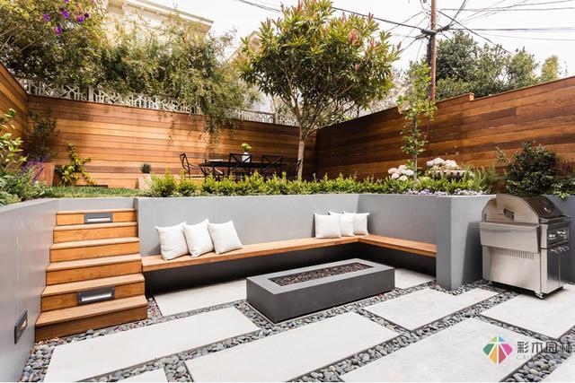 好的下沉式花园设计做出来跟客厅一样舒服!