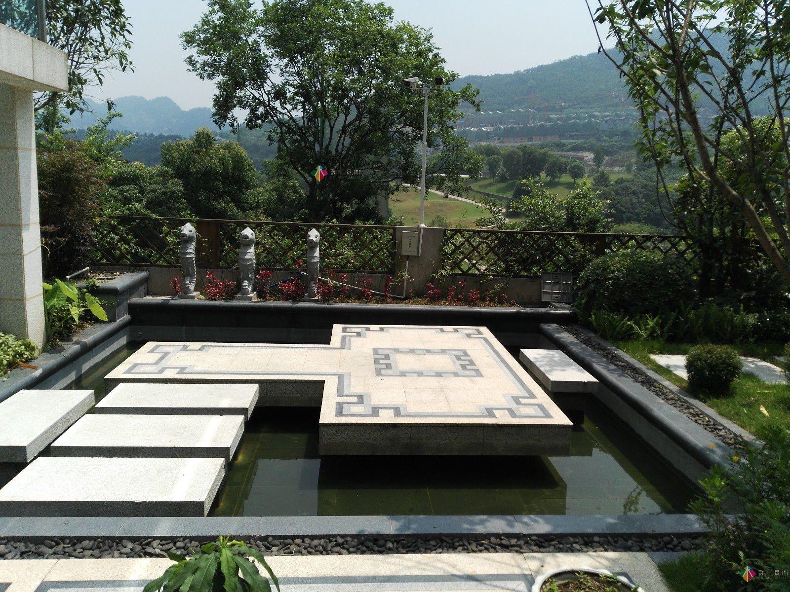 别墅花园设计的路面元素