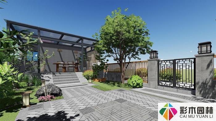 别墅庭院设计中园路设计说明