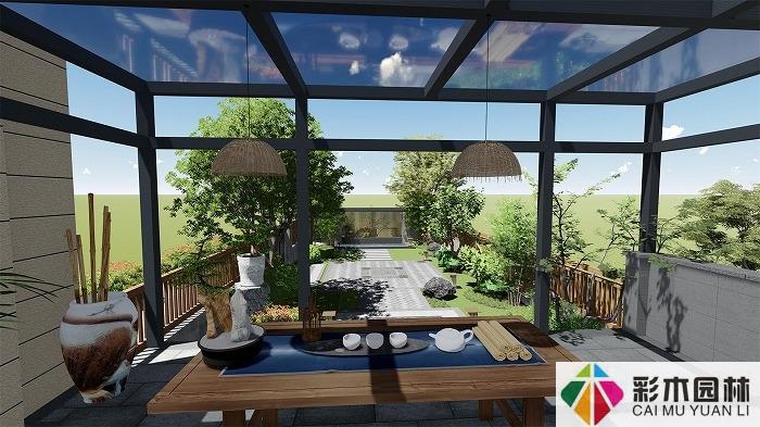 别墅景观庭院设计中的五种类型,庭院设计有哪些类型?