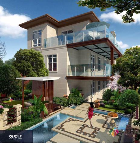 别墅景观设计中室外空间如何布置?
